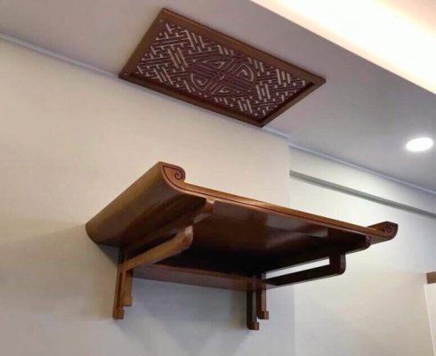 mẫu bàn thờ gỗ treo tường đẹp