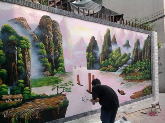 [180k/m2] Vẽ tranh tường ở Hà Nội đẹp uy tín